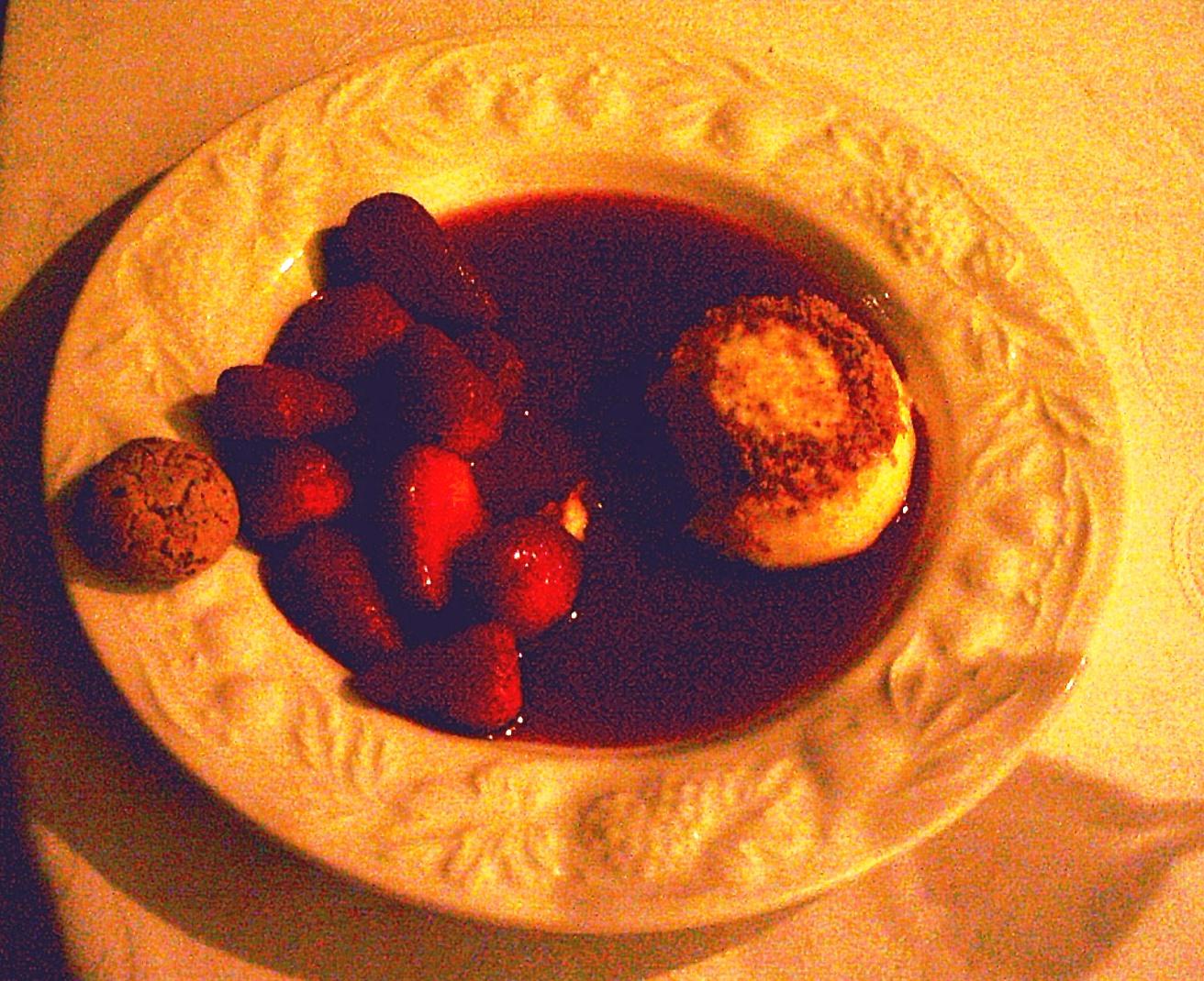 Das Dessert - kein Spargel mehr - leider kein gutes Foto.