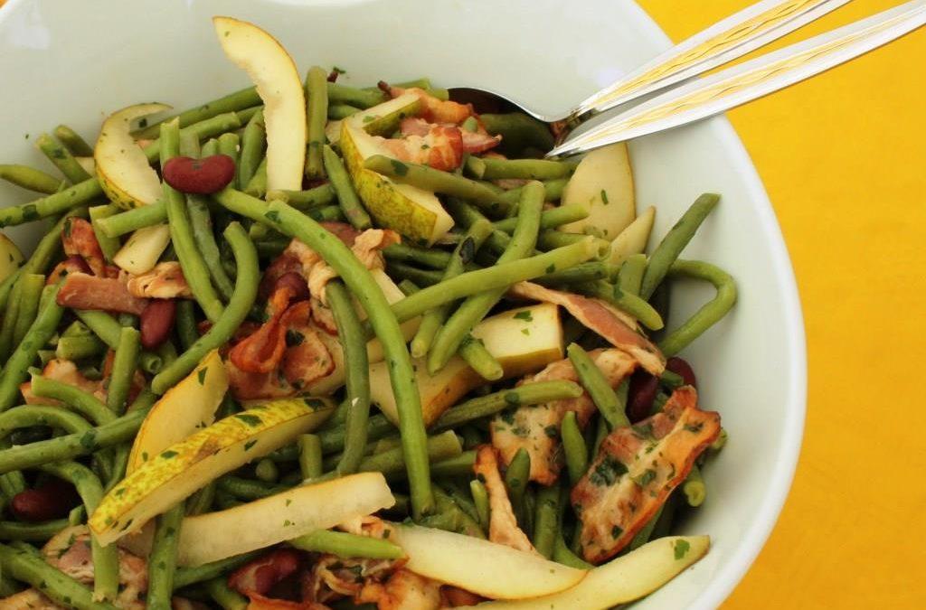 Bohnen-Birnen-Speck-Salat