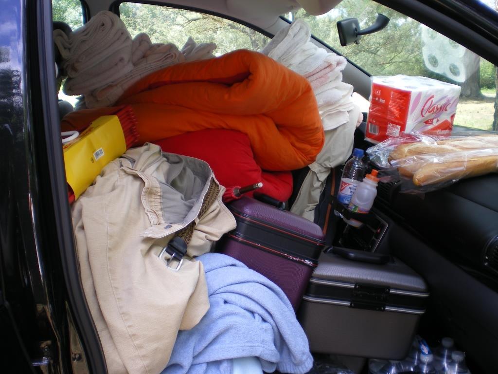 Beim Aufbauen noch Chaos im Auto