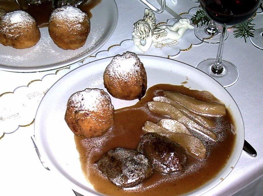 Hirschmedaillons mit Portwein-Birnen-Sauce