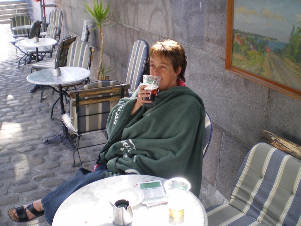 Pause im kühlen dänischen Sommer